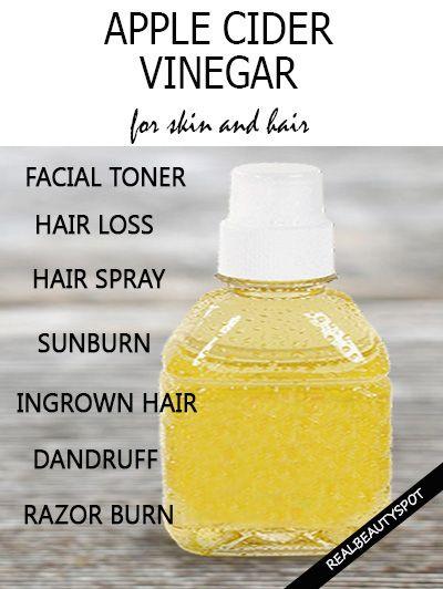 Apple cider vinegar for skin and hair