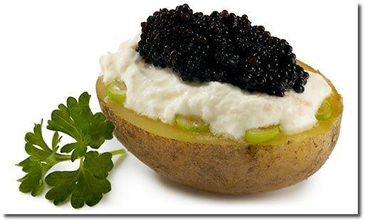 Kartoffel mit Kaviar