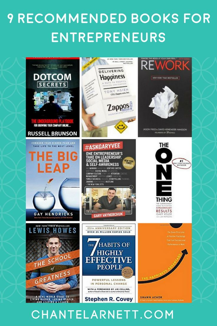 9 recommended books for entrepreneurs.