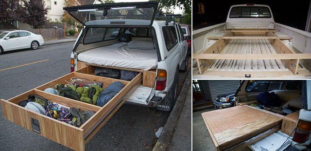 Incroyable, une Toyota Tacoma dotée d'un lit confo et d'un système de tiroirs ! ‹ Histoires Du Net