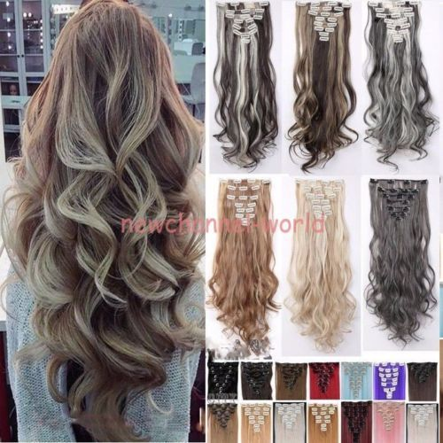 5606 best human hair extensions images on pinterest colors 100 real natural as human hair 8pcs full head clip in hair extensions synthetic pmusecretfo Images