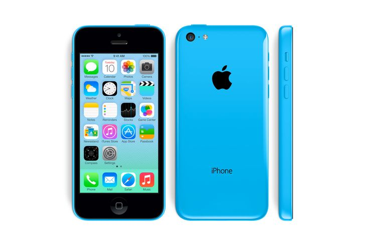 Apple iPhone 5c-BLUE. she wants this, badly!