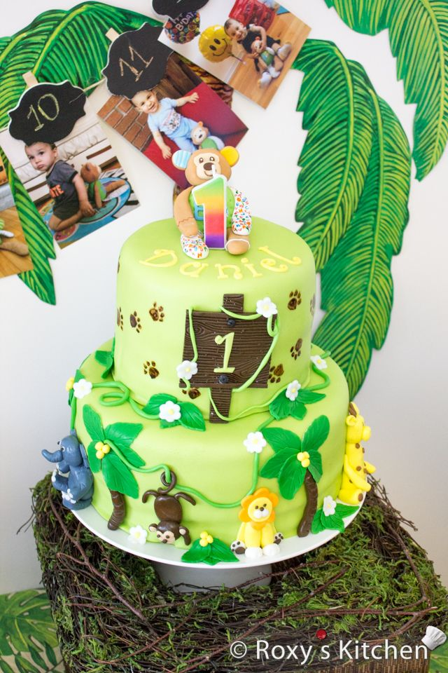 Safari Jungle Themed First Birthday Party Dessert