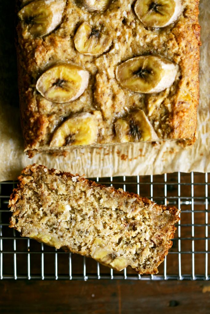 Millet Coconut Banana Bread- skip out the extra white flour for it to be #glutenfree