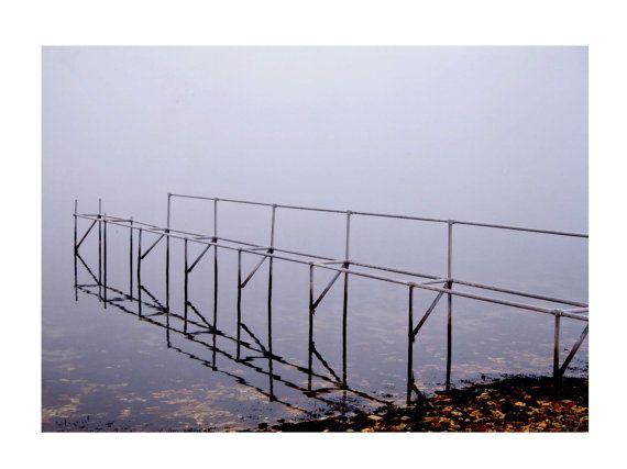 Minimalistic art photo Bridge Modern Winter by TheClayPlay on Etsy