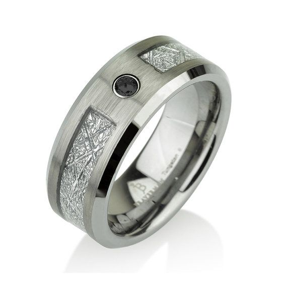 20 best black diamond tungsten ring images on pinterest. Black Bedroom Furniture Sets. Home Design Ideas