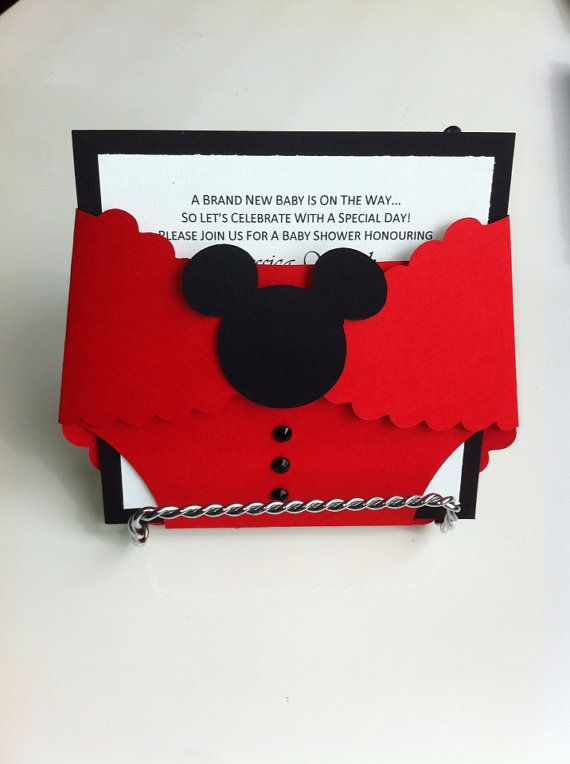 14 best mickey mouse baby shower invitations images on pinterest mickey mouse diaper baby shower invitation by invitationntutubouti 325 filmwisefo Image collections
