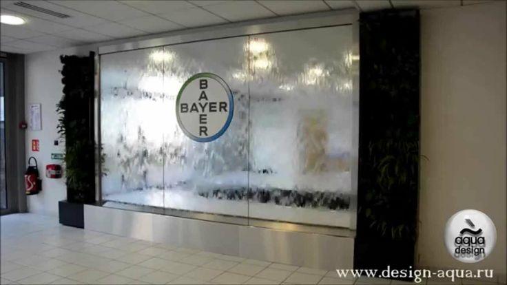 #3 Водопады Мира // Декоративный водопад по зеркалу с логотипом //