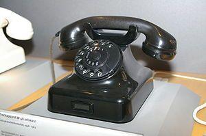 German W48 Wählfernsprecher(1948) 'dial-up speaker' telephone developed by Deutsche Bundespost