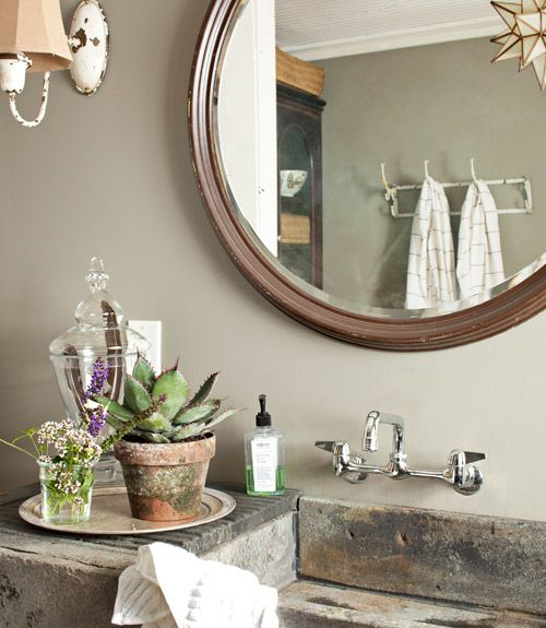 37 best urban country decor images on pinterest for the for Urban bathroom ideas