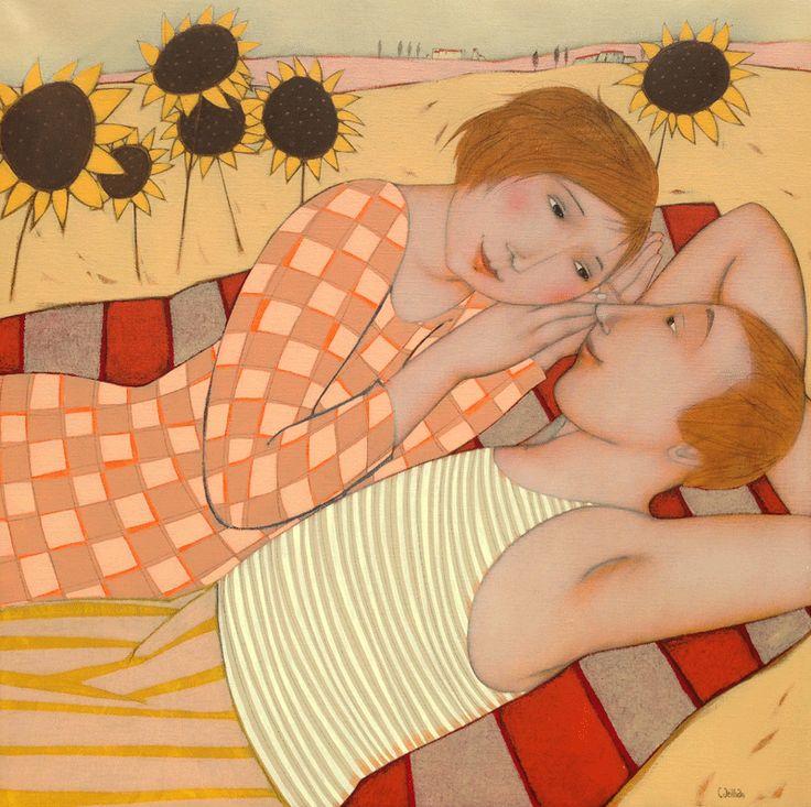 Cécile Veilhan, Les amoureux aux tournesols