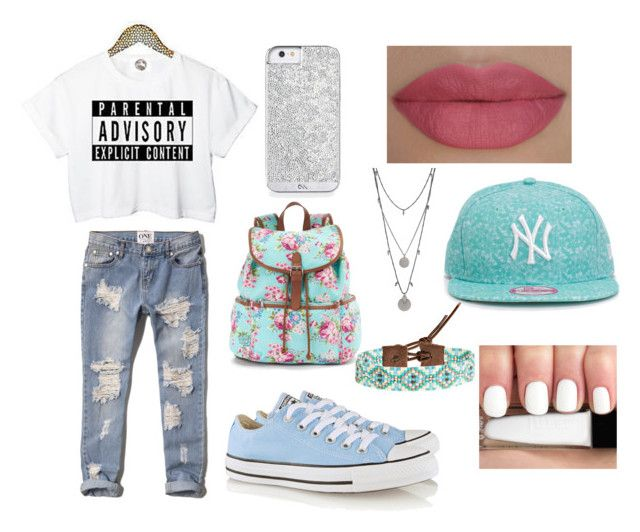 """casual"" by taylapawlak on Polyvore featuring Abercrombie & Fitch, Converse, Candie's, New Era, Vince Camuto, Chan Luu and She's So"