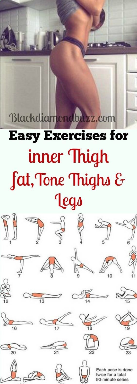 Best simple exercises to lose inner thighs fat and burn belly fat; tone thighs, legs and slimming waistline fast. It will not take more than 10 minutes for each workout every day and you are guarantee (More Minutes) burn fat remedies