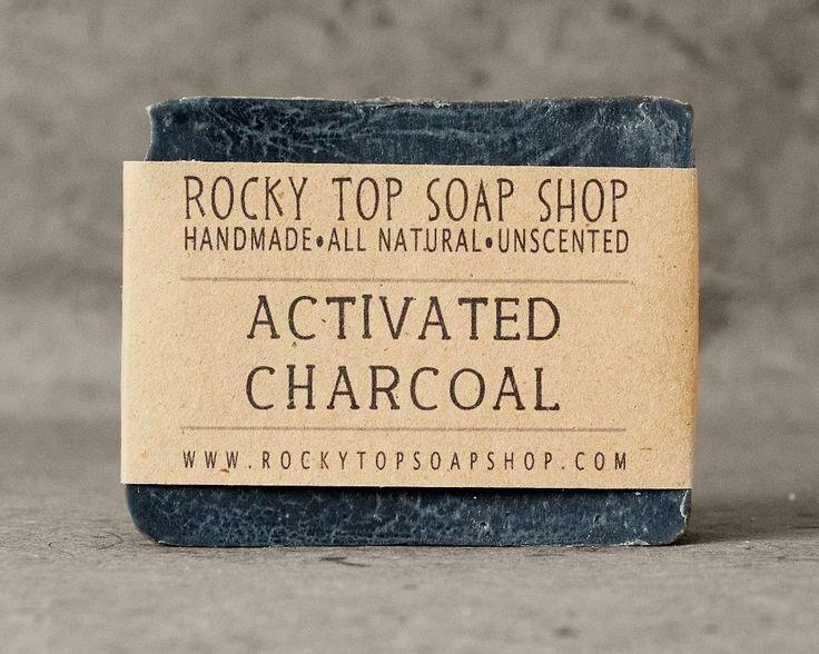 Bamboo Activated Charcoal Soap - All Natural Soap, Handmade Soap, Unscented Soap, Detox Soap, Vegan Soap. $6.50, via Etsy.