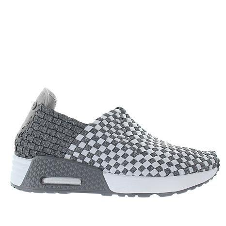 Bernie Mev Best Gem Woven Elastic Pull-On Sneaker