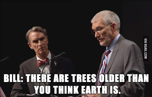 Evolution vs. Creationism. Bill Nye / Ken Ham debate. Bill Nye's face.