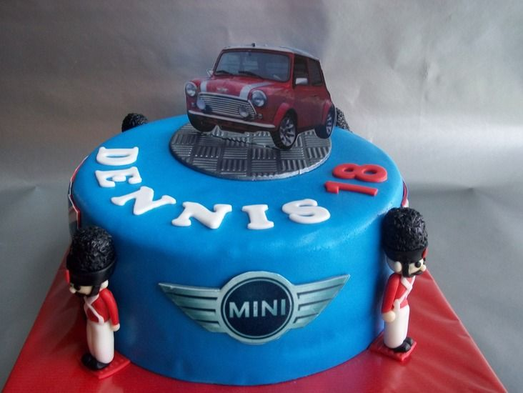 Mini Cooper taart
