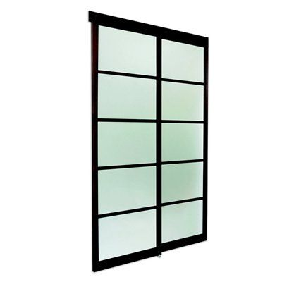 37-in x 82-in Frosted Glass Interior Sliding Door-Lowes $389.00