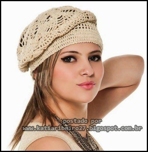 Olá queridas seguidoras e visitantes do blog   Já viram esta boina em crochê? Muito bonita e fácil , gostei do efeito dos abacaxis !!   AQ...