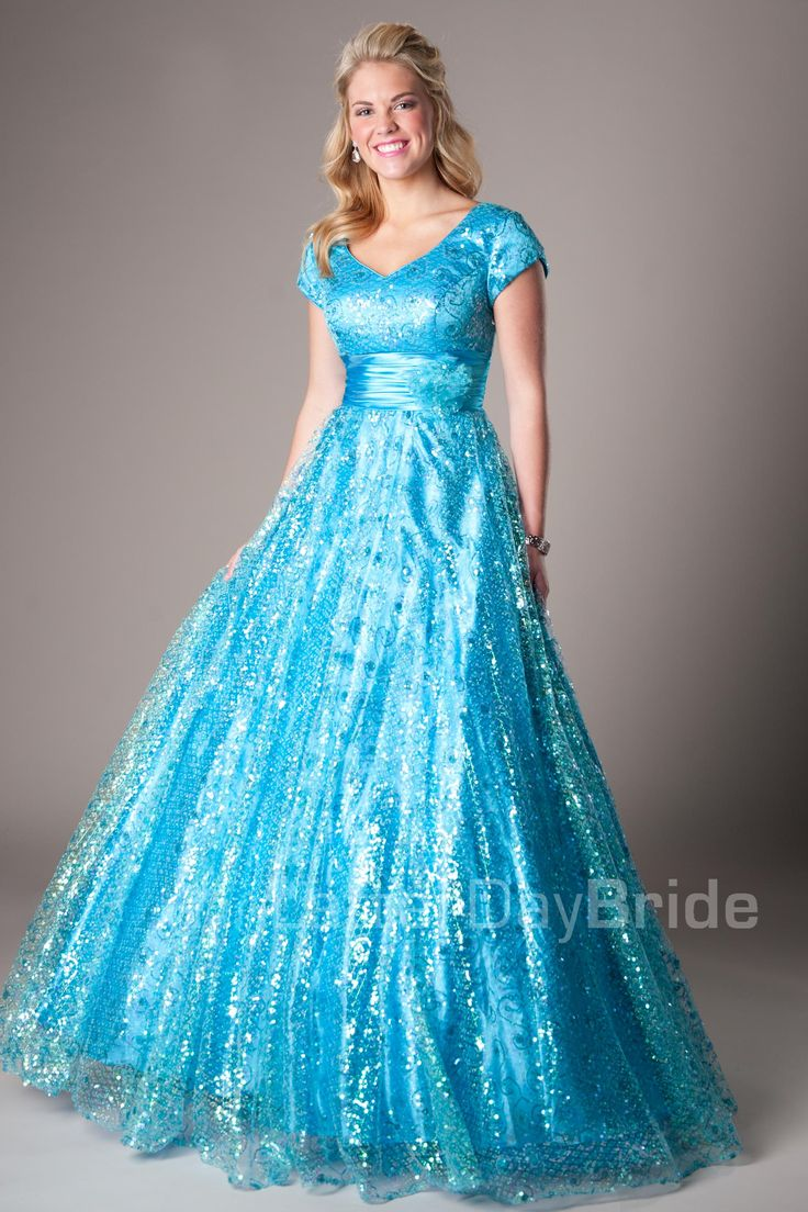 37 best images about modest wedding dresses on pinterest sleeve find this pin and more on modest formals d modest turquoise prom dress bailey ombrellifo Images