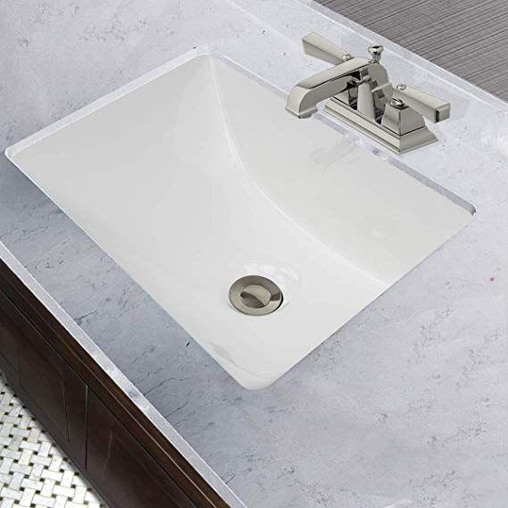 Nantucket Sinks Um 16x11 W 16 Inch By 11 Inch Rectangle Ceramic Undermount Vanity White Amazon Com Sink Amazing Bathrooms Undermount Bathroom Sink