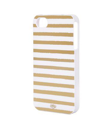 Gold Stripes iPhone 4 Case - SLIM