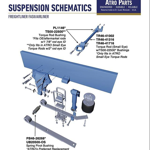 Miamistar Truckparts Offers A Large Variety Of Suspension Replacements Parts For Freightliner Kenworth Peterbilt M Truck Parts Freightliner Volvo Trucks