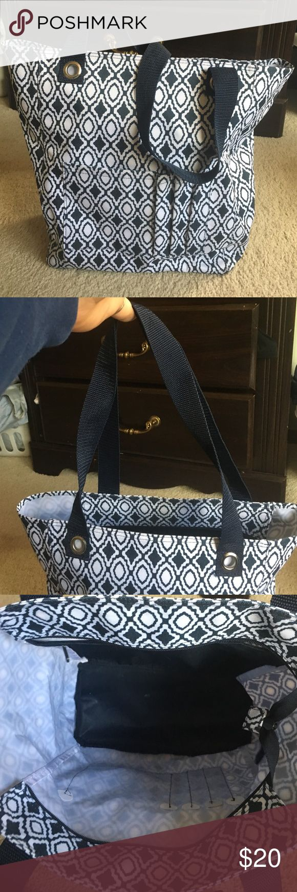 Thirty one essentials storage tote Great blue and white tote. thirty one Bags Shoulder Bags