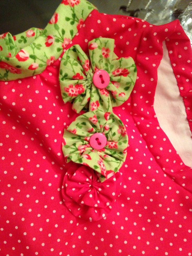 Detalles flores vestido de algodón