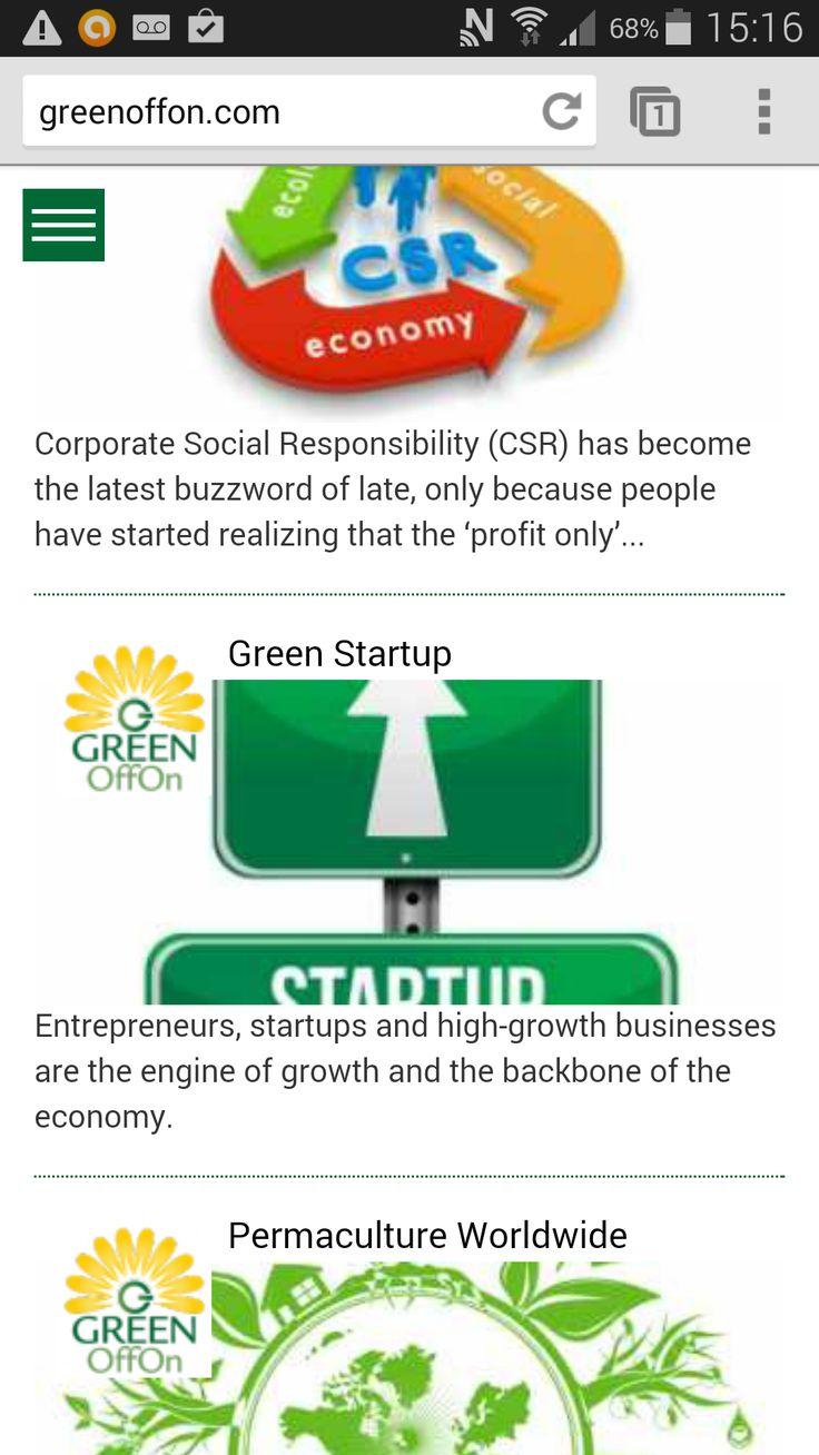 #Адаптивный #Веб-дизайн Портала @GreenOffOn