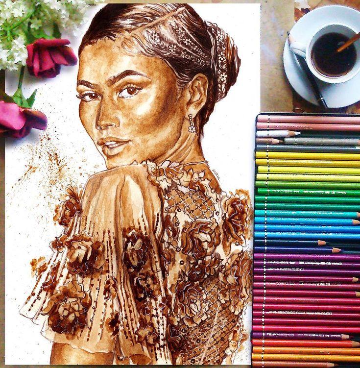 Sanatlı Bi Blog Kahvenin Harman Olduğu Muhteşem Portre Çalışmaları: 'Nuria Salcedo' 16