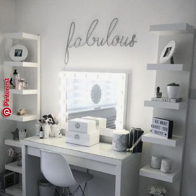 Hollywood Beauty Station With Ikea Dressing Table And Units Idei Pt Casa In 2019 Pinterest Bedroom Room And Glam Bedroom Ikea Dressing Table Room Ideas Bedroom Teenage Bedroom Ideas Ikea