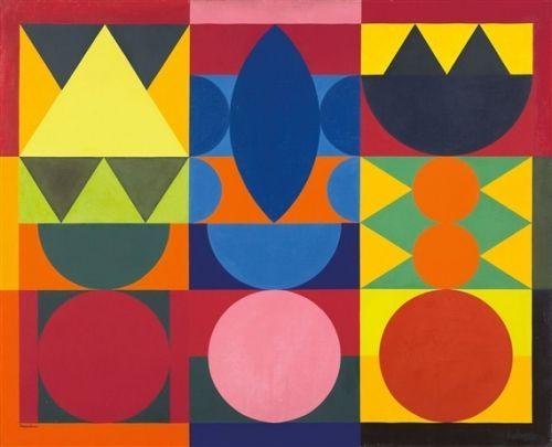 Auguste herbin composition   Un autre, à l'avenant : les formes géométriques sont simples et ...