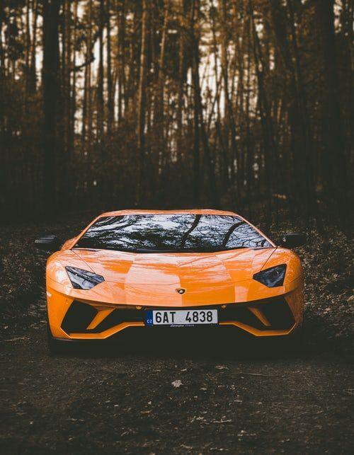 Orange Lamborghini weil