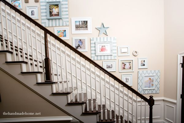 How to create a beautiful #staircase #gallery wall via @Ashley Mills {the handmade home} @handmade_home