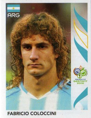 Image result for germany 2006 panini argentina coloccini