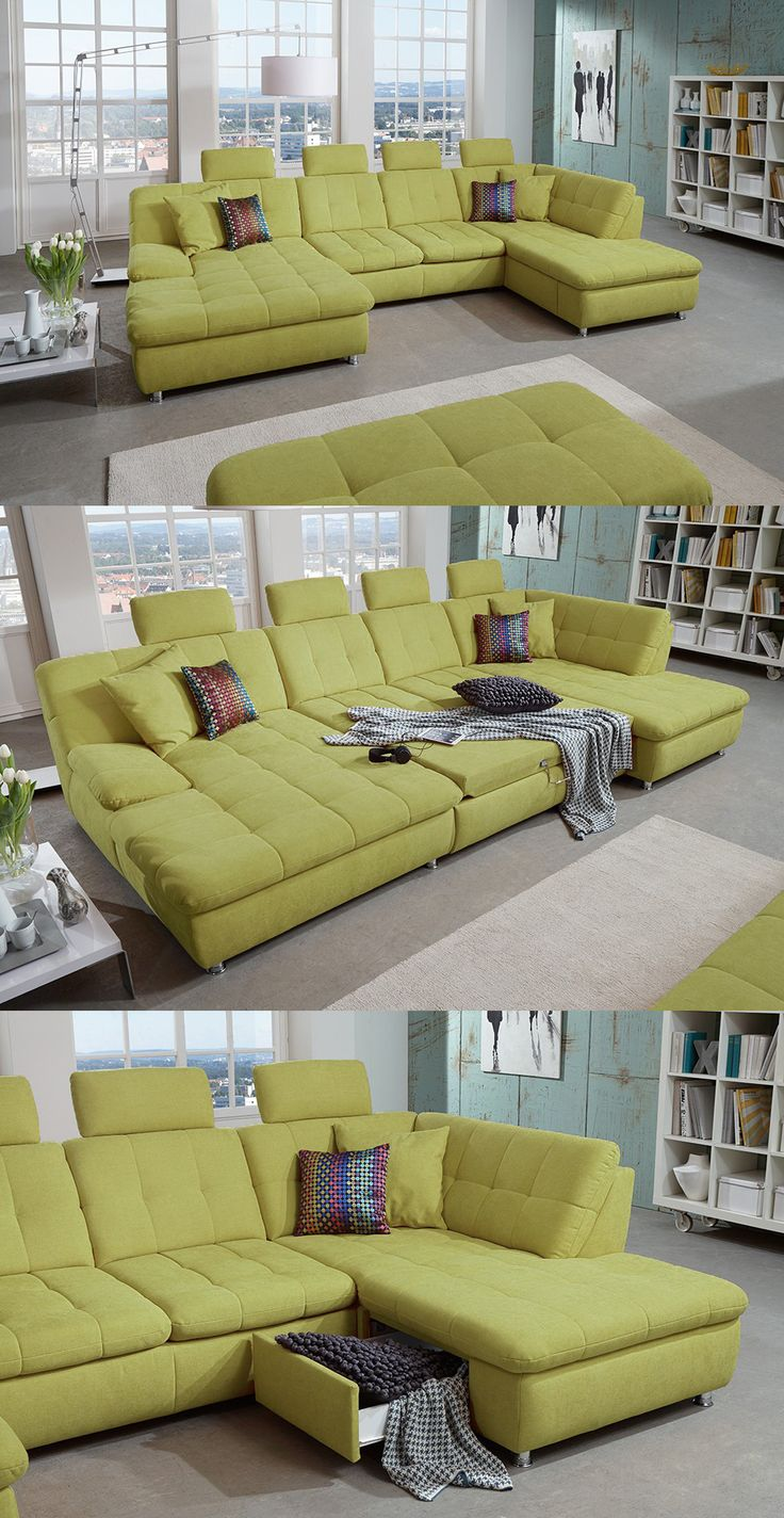 17 best ideas about sofa wohnlandschaft on pinterest | ecksofas, Hause ideen