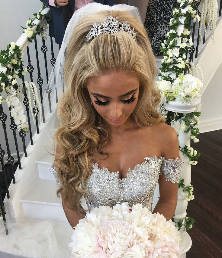 Wedding Hairstyle Crown: Our Stunning Princess Bride Jasmine Wearing A Custom
