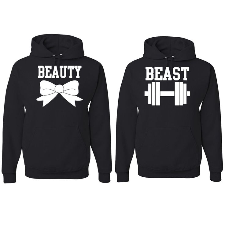 Beauty and The Beast Hooded Sweatshirt Couples Relationships Boyfriend Girlfriend Hoodies