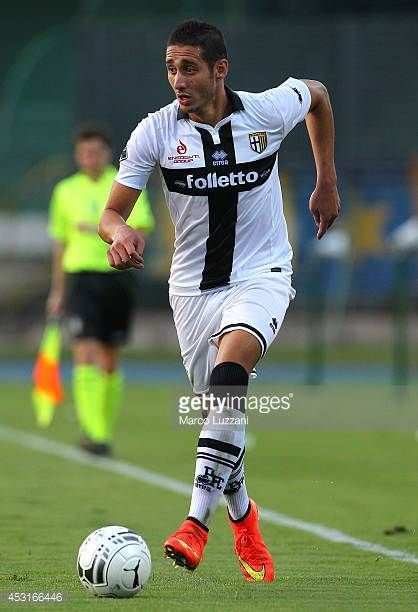 Ishak Belfodil of Parma FC in action during a preseason tournament match between Parma FC US Avellino and FC Girondins de Bordeaux at Stadio Partenio...