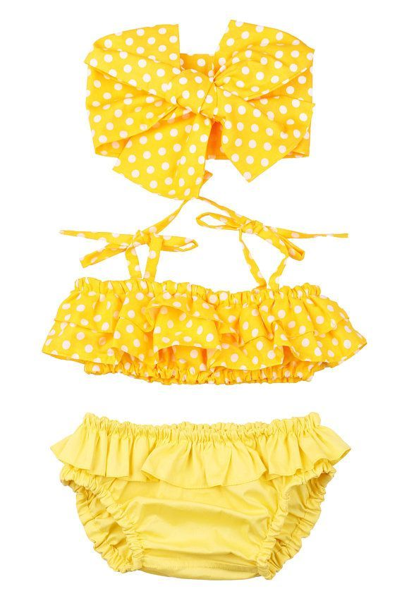Swimsuit for girl 3 Month – 12 years. Yellow – baby 0-24m – #024m #Baby #Girl #M…