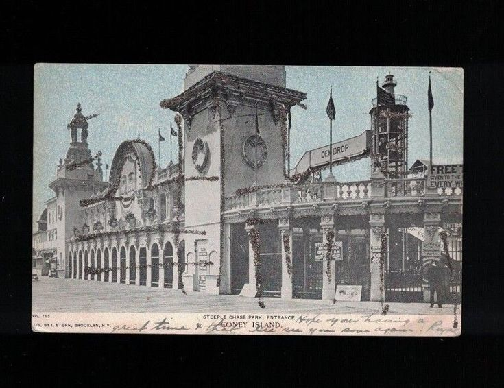 1906 Steeple Chase Park Engrance Coney Island Brooklyn NY Post Card