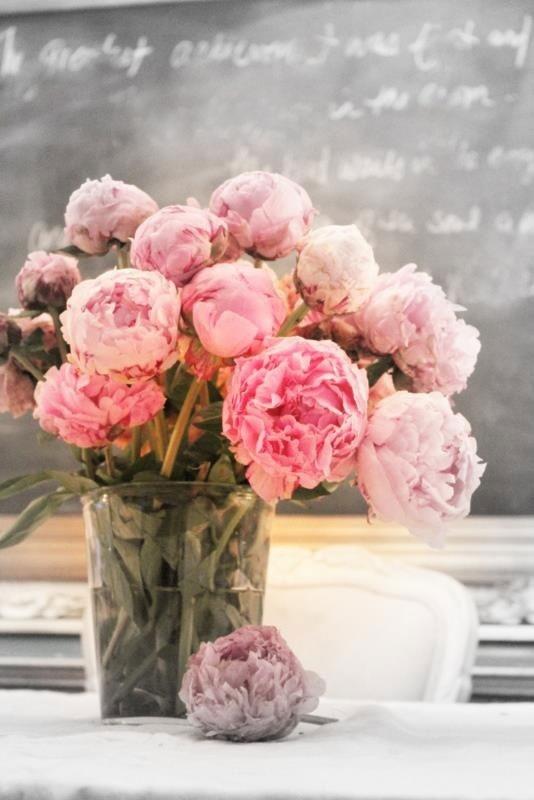 Beautiful peonies, pivoines, bouquet, soft pink, rose poudré, romantique, romantic, pretty.