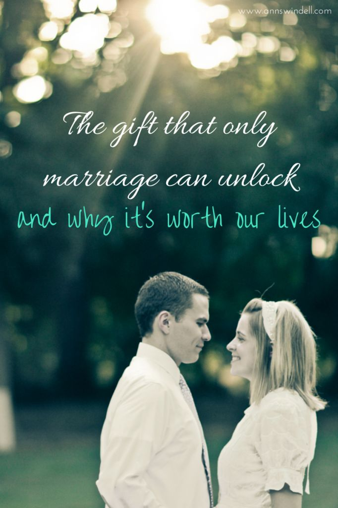 There are things that can only be unlocked in us in Christian marriage--this is so good and important for people who are married and for singles to think about! Really encouraging!