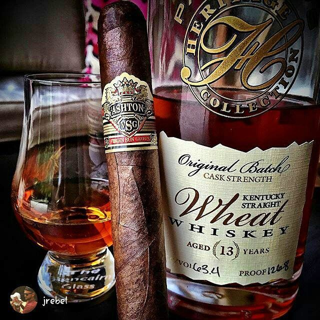 Ashton Cigar & Whiskey.  In case you have never tried it, that piece of glassware is amazing for smoking good cigars.  tilt it.  Blow smoke into it and then sip.  the flavor changes.  I got mine from Bed Bath and Beyond for about $10.