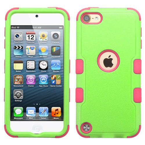 MYBAT TUFF II Apple iPod Touch 5th / 6th Gen Case - Pearl Green/Pink