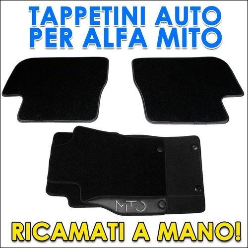 TAPPETINI ALFA ROMEO MITO LOGO RICAMATO MOQUETTE 4PZ SU MISURA TAPPETI PER AUTO NUOVI - $41,00€ - SuQui Shopping by exsensa_store