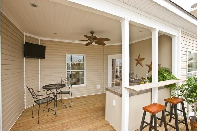 Outdoor Entertainment area - Jamestown by Clayton Homes