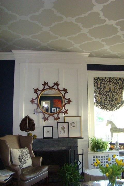 A Beautiful Ornamental Allover Modello Designs Stencil Showcase House Ceiling By Uber Talented Anita Medina For Blair Interiors Group