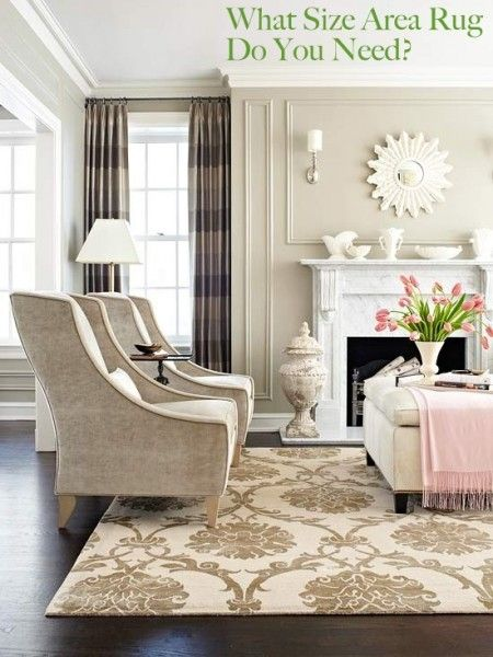 What Size Area Rug Do You Need? Super helpful post on choosing the right size of rug for your space.